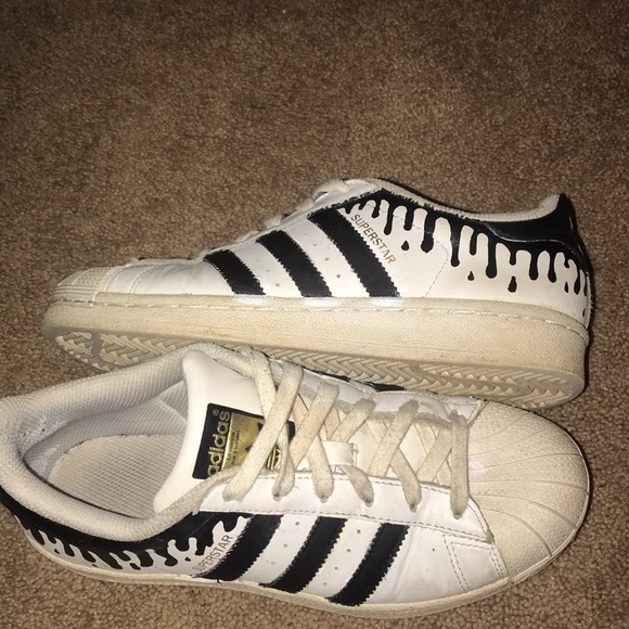 Ongekend adidas Shoes | Hand Painted Custom Drip Superstars | Poshmark SA-31